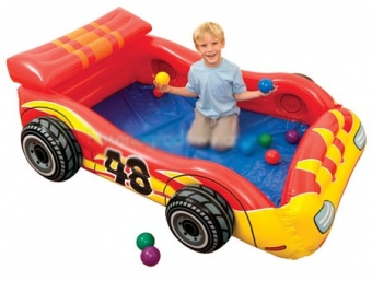 استخر توپ و تخت کودک ماشین (48665)